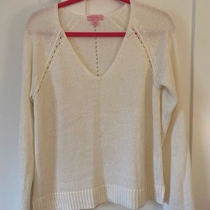 Lily Pulitzer white knit sweater